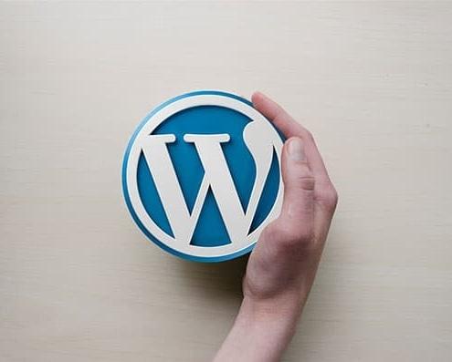WordPress Logo Hand